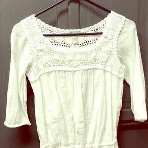Cotton crochet detail drawstring dress